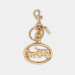 HORSE AND CARRIAGE BAG CHARM - 5397 - GOLD
