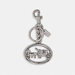 HORSE AND CARRIAGE BAG CHARM - 5397 - SILVER