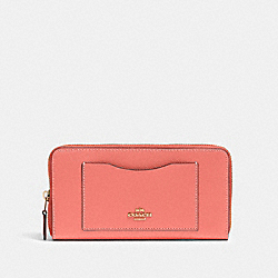 COACH 54007 Accordion Zip Wallet IM/BRIGHT CORAL