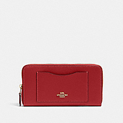 COACH 54007 - ACCORDION ZIP WALLET IM/1941 RED