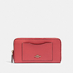 COACH 54007 Accordion Zip Wallet IM/POPPY