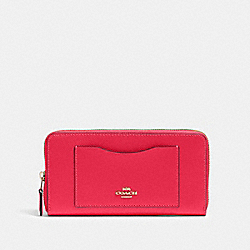 COACH 54007 Accordion Zip Wallet IM/ELECTRIC PINK