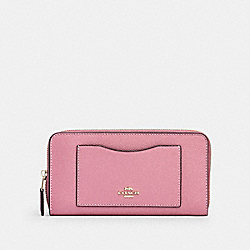 COACH 54007 - ACCORDION ZIP WALLET IM/ROSE