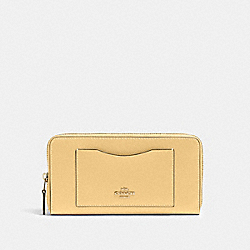 COACH 54007 - ACCORDION ZIP WALLET IM/VANILLA CREAM