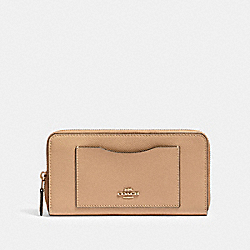 COACH 54007 Accordion Zip Wallet IM/TAUPE