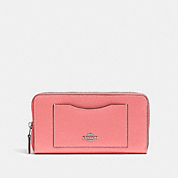 COACH 54007 - ACCORDION ZIP WALLET QB/PINK LEMONADE