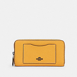 COACH 54007 Accordion Zip Wallet QB/HONEY
