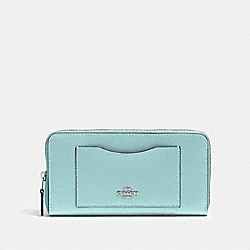 COACH 54007 Accordion Zip Wallet SV/SEAFOAM