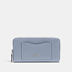 COACH 54007 Accordion Zip Wallet SV/MIST