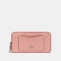 COACH 54007 - ACCORDION ZIP WALLET SV/LIGHT BLUSH