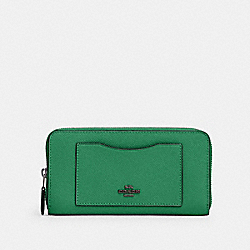 COACH 54007 Accordion Zip Wallet SV/SHAMROCK