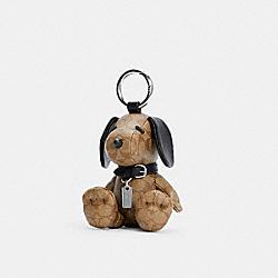 COACH 5401 Coach X Peanuts Snoopy Collectible Bag Charm In Signature Canvas SV/KHAKI