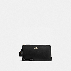COACH 54052 - DOUBLE ZIP WALLET GOLD/BLACK