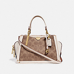COACH 54117 Dreamer 21 In Signature Canvas TAN/CHALK/BRASS