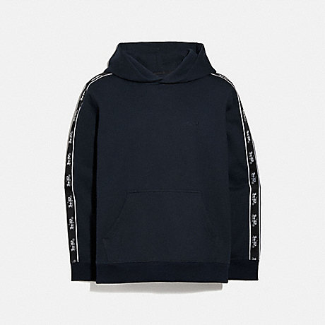 COACH 5419 HORSE AND CARRIAGE TAPE HOODIE NAVY
