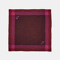 WINDOWPANE CHALLIS - PLUM - COACH 54230