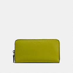 COACH 54300 Accordion Zip Wallet DK/CITRINE