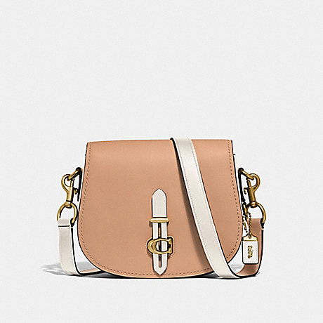 COACH 54392 SADDLE IN COLORBLOCK BRASS/BEECHWOOD-MULTI