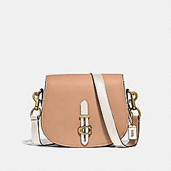 COACH 54392 - SADDLE IN COLORBLOCK BRASS/BEECHWOOD MULTI