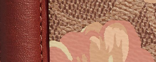 B4/棕黃繡紅色蝴蝶結