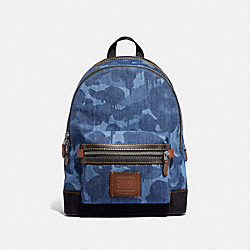 COACH 54666 - ACADEMY BACKPACK WITH WILD BEAST PRINT BLUE/BLACK COPPER