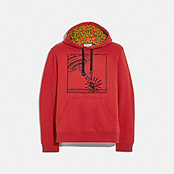 COACH 5470 Disney Mickey Mouse X Keith Haring Hoodie RED
