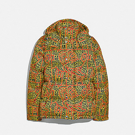 COACH 5472 DISNEY MICKEY MOUSE X KEITH HARING PUFFER YELLOW MULTICOLOR