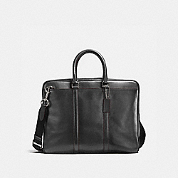 COACH 54908 - METROPOLITAN SLIM BRIEF GRAPHITE/OXBLOOD/BLACK ANTIQUE NICKEL