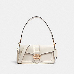 GEORGIE SHOULDER BAG WITH RIVETS - 5497 - IM/CHALK