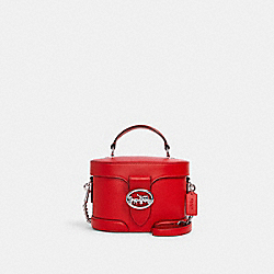 COACH 5503 - GEORGIE GEM CROSSBODY SV/BRIGHT POPPY