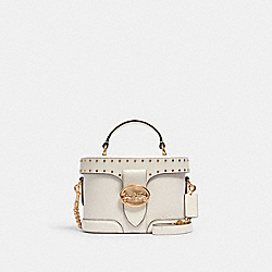 COACH 5506 - GEORGIE GEM CROSSBODY WITH RIVETS IM/CHALK
