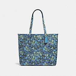 COACH 55181 Highline Tote With Floral Print SV/SLATE