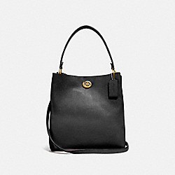 CHARLIE BUCKET BAG - GD/BLACK - COACH 55200