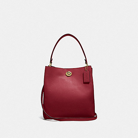 COACH 55200 CHARLIE BUCKET BAG GOLD/DEEP-RED
