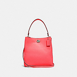 COACH 55200 - CHARLIE BUCKET BAG SV/BRIGHT CORAL