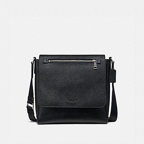 COACH 55547 KENNEDY MAP BAG BLACK/SILVER
