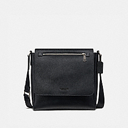 COACH 55547 Kennedy Map Bag BLACK/SILVER