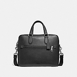 COACH 55567 Kennedy Brief BLACK/SILVER