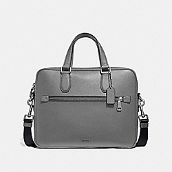 COACH 55567 - KENNEDY BRIEF HEATHER GREY/SILVER