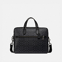 COACH 55577 - KENNEDY BRIEF 40 IN SIGNATURE CANVAS QB/CHARCOAL