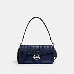 GEORGIE SHOULDER BAG WITH LINEAR QUILTING - SV/COBALT - COACH 5567