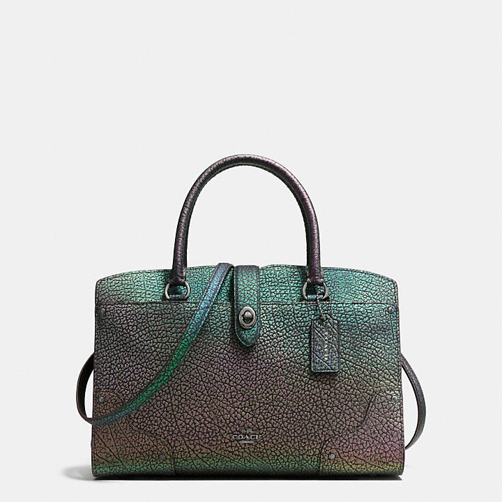 Coach Hong Kong Official page|MERCER SATCHEL 30 IN HOLOGRAM LEATHER