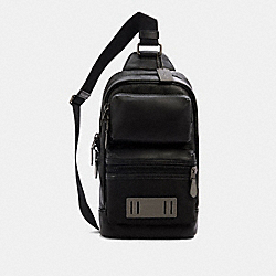 COACH 5607 - RIDER PACK IN SIGNATURE CANVAS QB/BLACK GREY MULTI