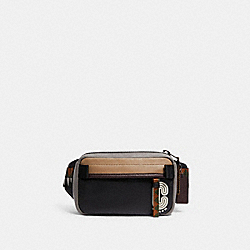 COACH 5615 Mini Edge Belt Bag QB/BLACK MULTI