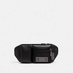RIDER BELT BAG IN SIGNATURE CANVAS - 5623 - QB/BLACK GREY MULTI