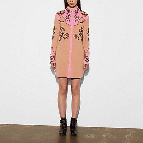 COACH WESTERN DRESS - PINK - 56473