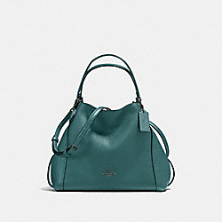 COACH 57124 Edie Shoulder Bag 28 GM/DARK TURQUOISE