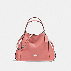 COACH 57124 Edie Shoulder Bag 28 SV/BRIGHT CORAL