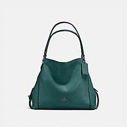 COACH 57125 Edie Shoulder Bag 31 DARK TURQUOISE/GUNMETAL