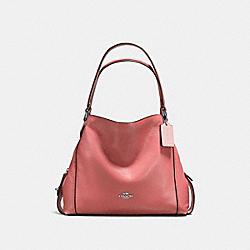 COACH 57125 Edie Shoulder Bag 31 BRIGHT CORAL/SILVER